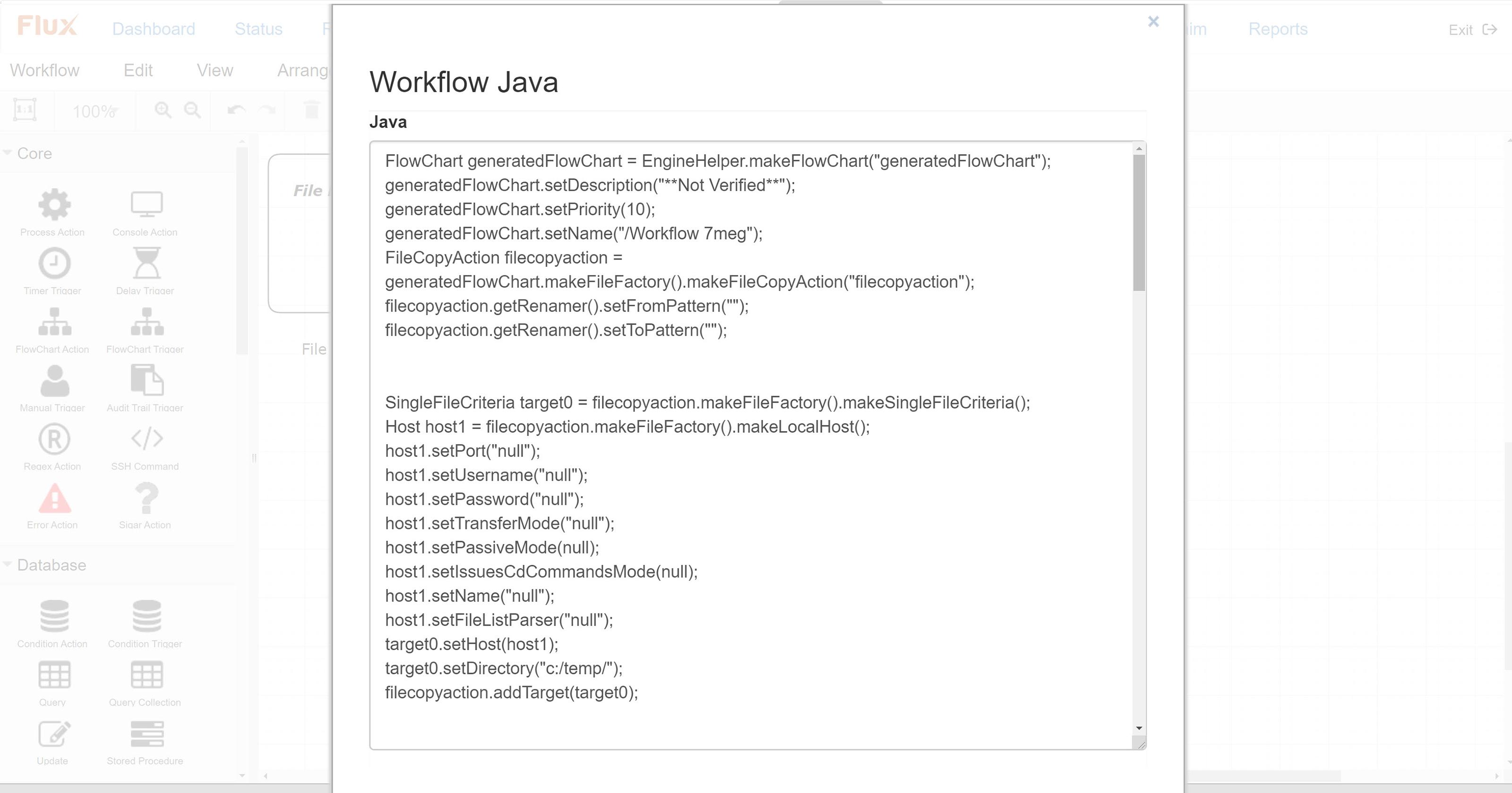 Flux job as code screenshot
