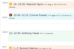 GoReminders screenshot: When customers confirm their attendance, the appointment is verified within the calendar