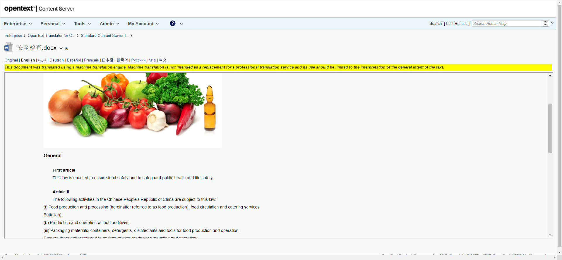 Translated Content Previewer