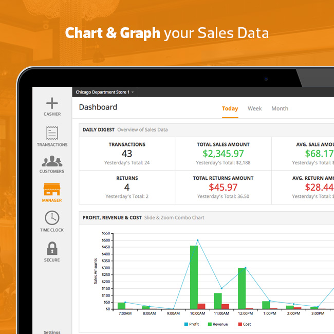 Chart & Graph Sales Data