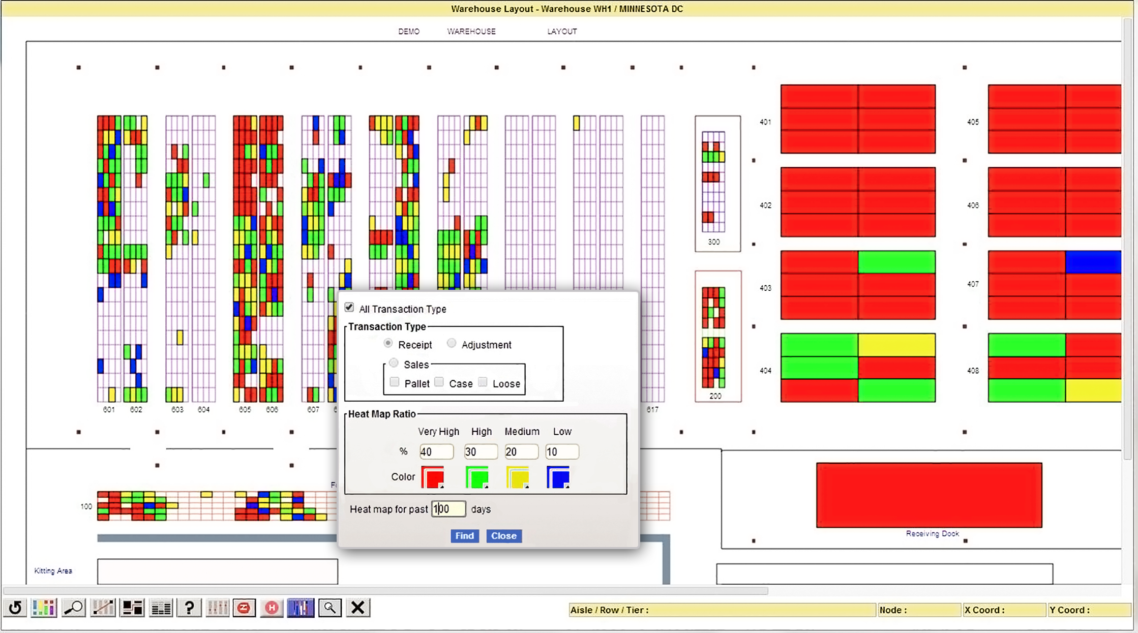 Softeon Warehouse Management System (WMS) Software - Warehouse Layout