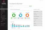 Kochava screenshot: Audience Builder allows custom audiences to be created, defining targeted groups with a number of audience filters and updating the suggested devices to target in real time