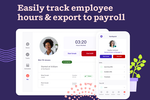 Deputy screenshot: Make it simple for employees to clock in and out from any device, with geolocation capture and facial recognition.  Streamline timesheets and attendance records, seamlessly export to payroll.