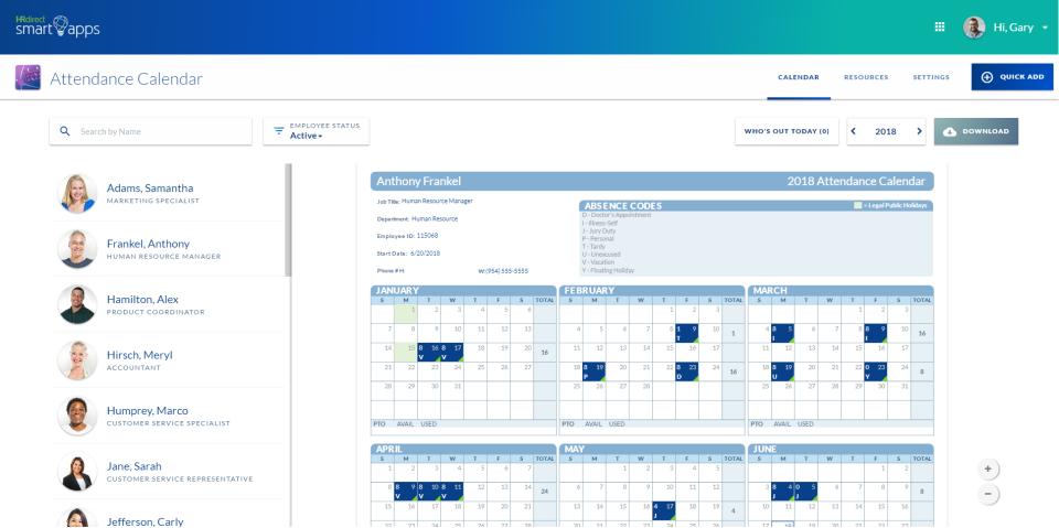Attendance Calendar Smart App Software - 1