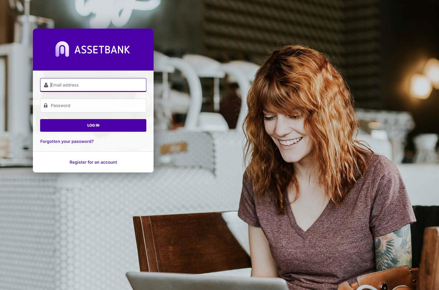 Asset Bank log on page