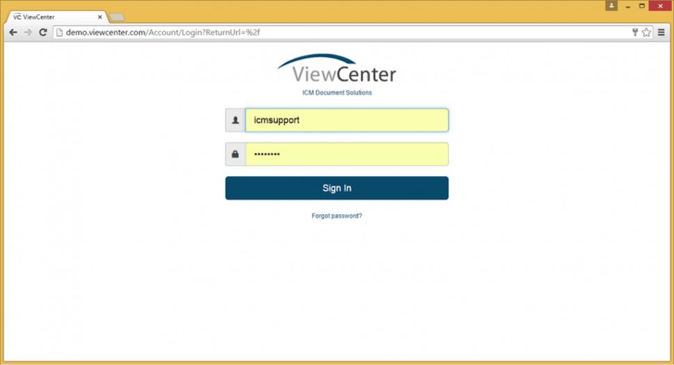 ViewCenter Software - Login