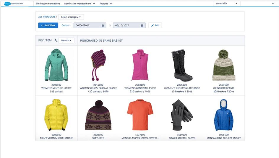 Salesforce B2C Commerce customer basket analysis