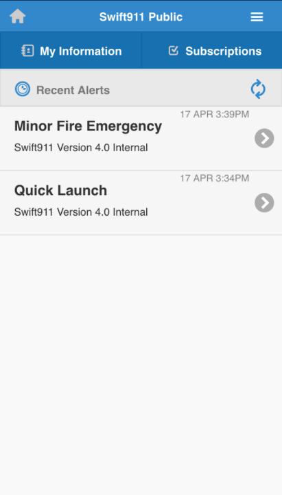 Swift911 alerts