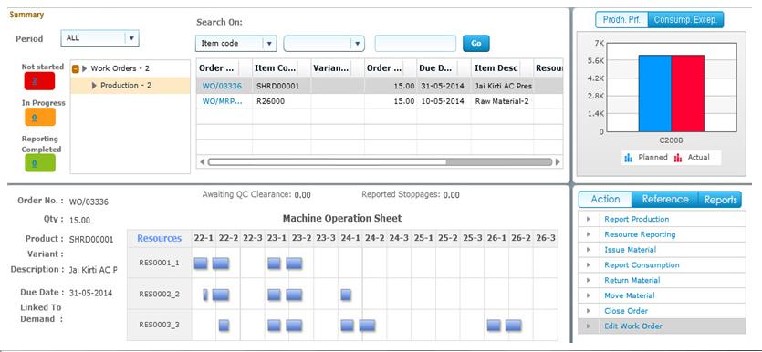 Ramco EAM on Cloud discrete production screenshot