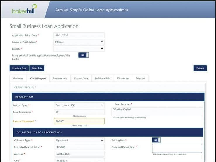 Baker Hill NextGen client portal