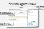 Kixie PowerCall screenshot: Run a second, parallel sales process that's entirely automated by sending automated SMS messages and triggering automatic calls using information from your CRM.