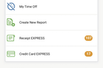 DATABASICS Time & Expense screenshot: Go mobile with time and expense for employees and admins.