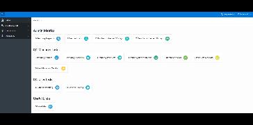 Main interface with KPI
