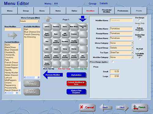 HungerRush RMS menu editor