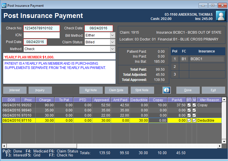 Insurance Payment Processing