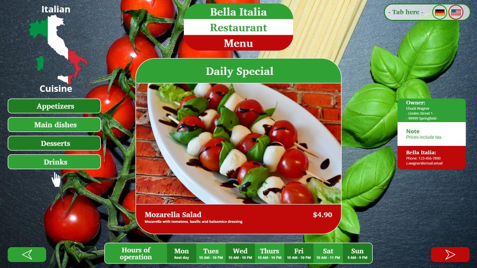 SiteCaster: Create professional digital menus