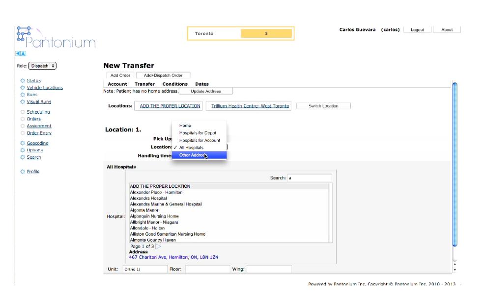 New transfer form