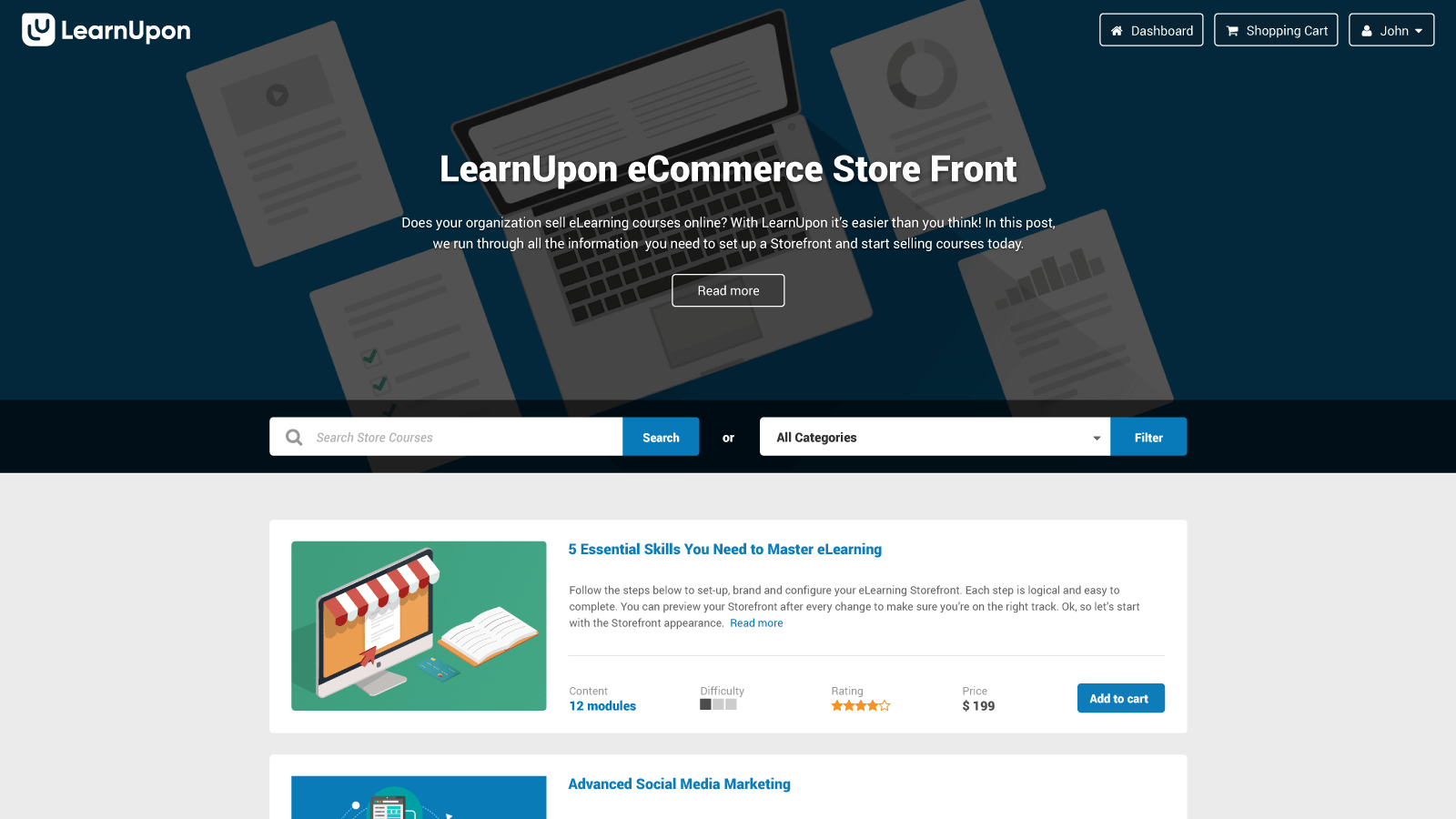 LearnUpon store