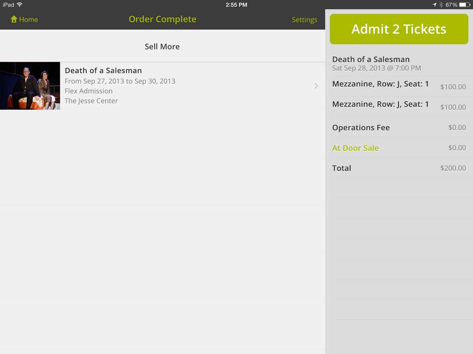 Complete orders