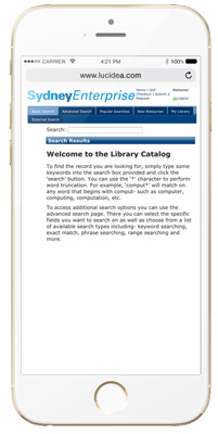 Access and search content via mobile devices, providing remote users with information and support anytime