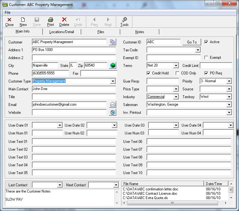 Customer files come with some preset data fields that can be easily customized to fit customer needs and preferences.