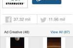MediaRadar screenshot: View a full summary of a businesses current advertising campaigns and creative content