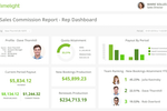 Limelight screenshot: Sales Commissions Dashboard