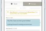Visibook Screenshot: Chat with clients with built-in messaging