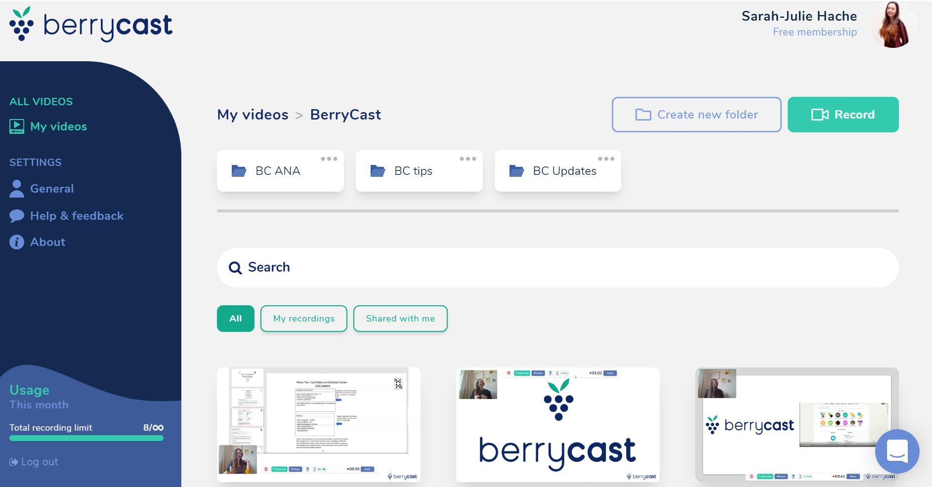 Berrycast platform