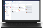 Captura de pantalla de Microsoft Teams: The planner allows users to manage and track tasks