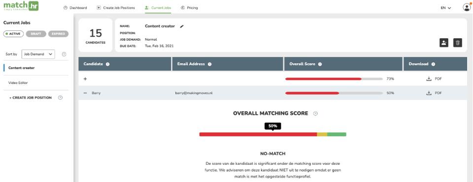 MatchHR Software - 3