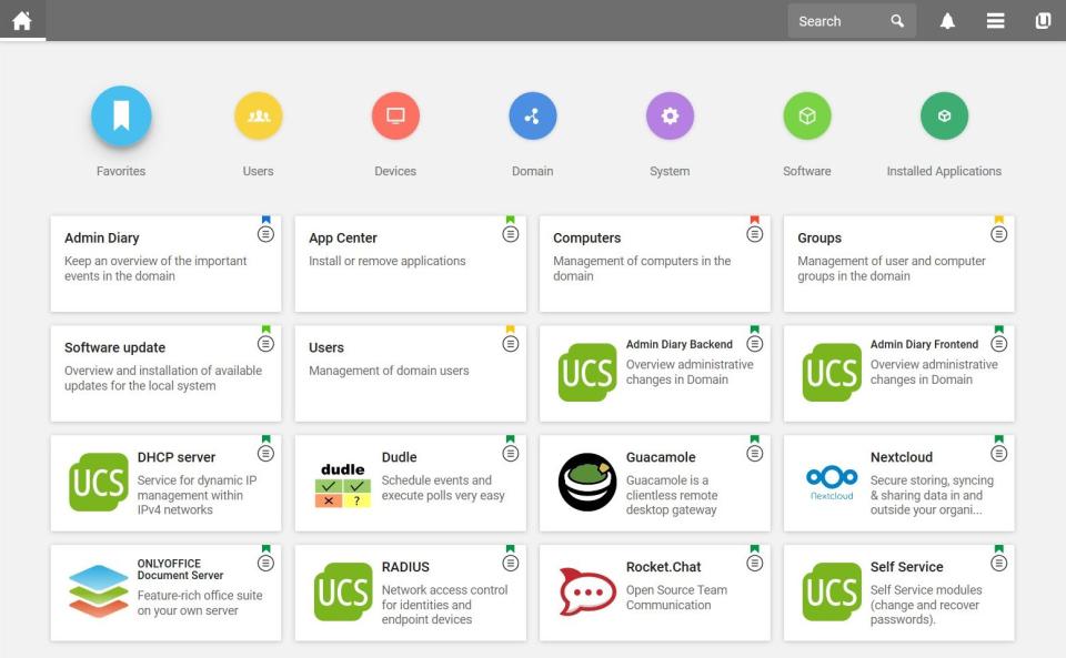 Univention Corporate Server app management