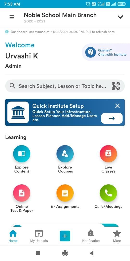 Pocket Study Software - Pocket Study App dasoboard
