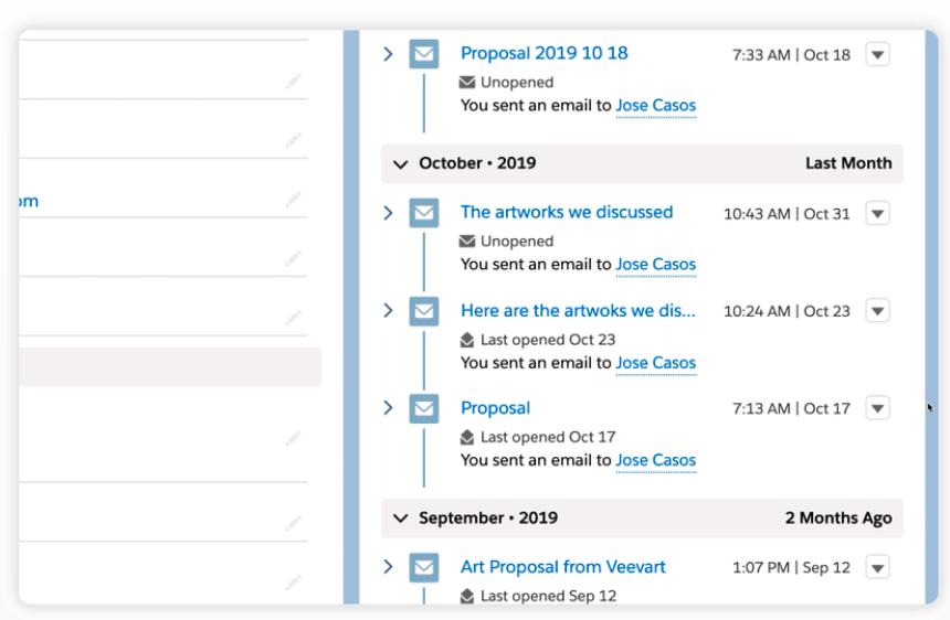 Veevart email communication