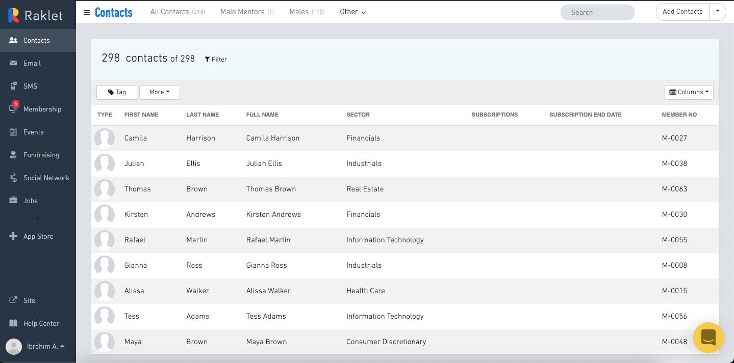 Raklet Software - Improved Contact Management & Database