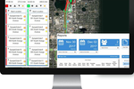 FleetZoo screenshot: The FleetZoo management portal shows the current status of all of drivers and vehicles