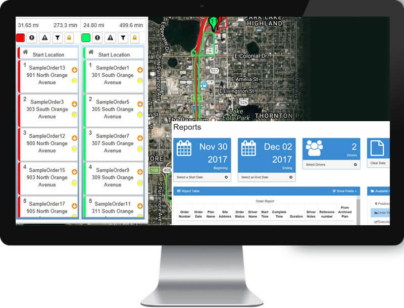 The FleetZoo management portal shows the current status of all of drivers and vehicles