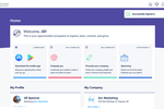 Connect Space screenshot: Users of Connect Space can create a custom profile and track opportunities and community activity