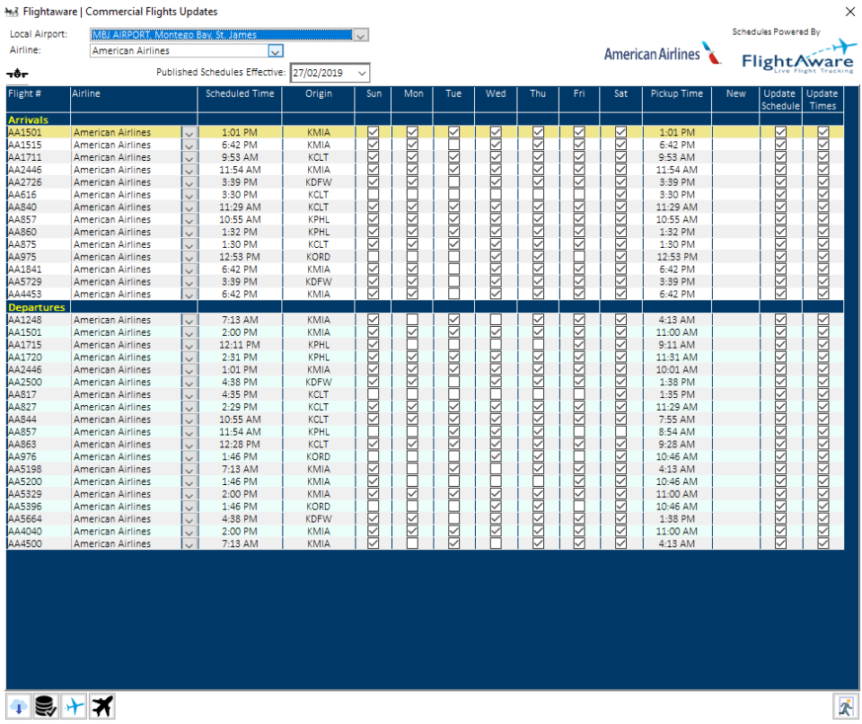 PASEO Software - PASEO: commercial flight updates screenshot