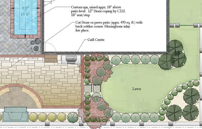 Colored CAD landscape design
