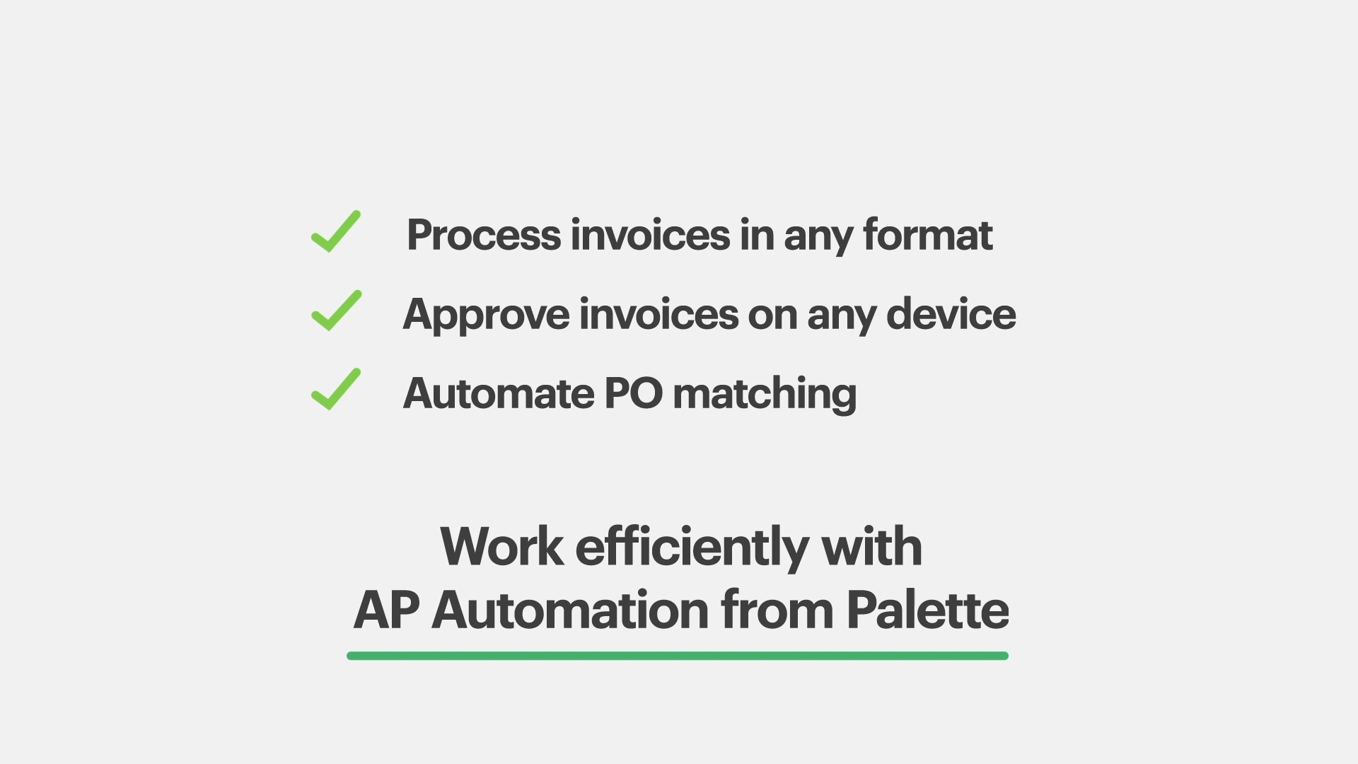 Approve invoices and automate the PO matching process.