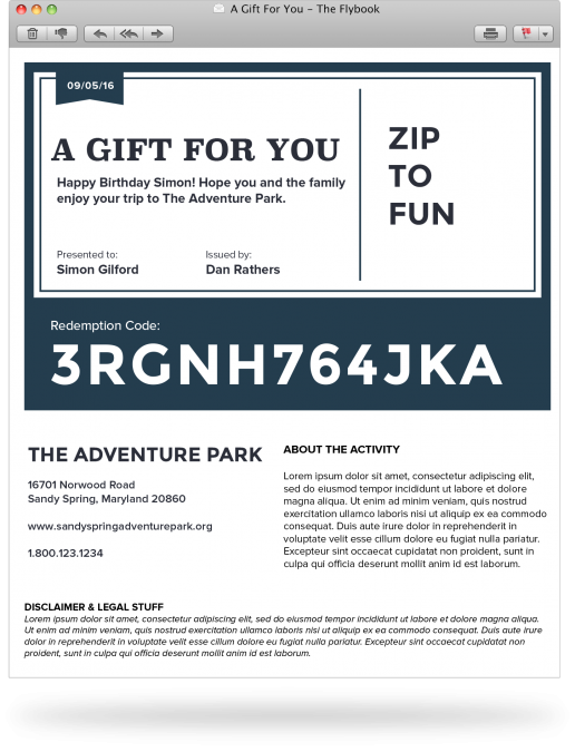 A range of marketing features include email integration with MailChimp and the use of pre-styled gift certificate email templates carrying uniquely generated redemption codes offering custom discount amounts