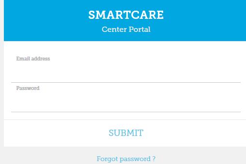 SmartCare - Login page