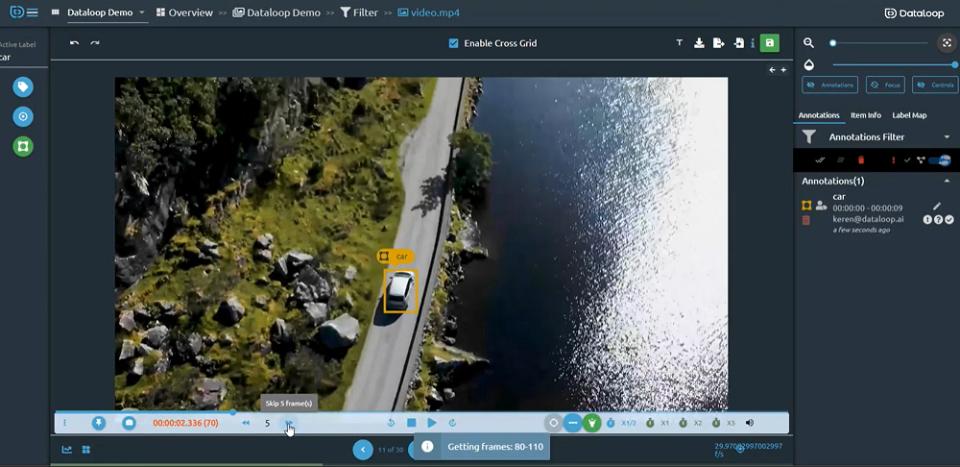Dataloop video annotations