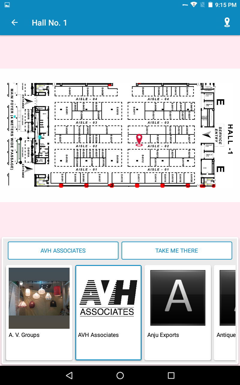 VirtuPaper hall map screenshot