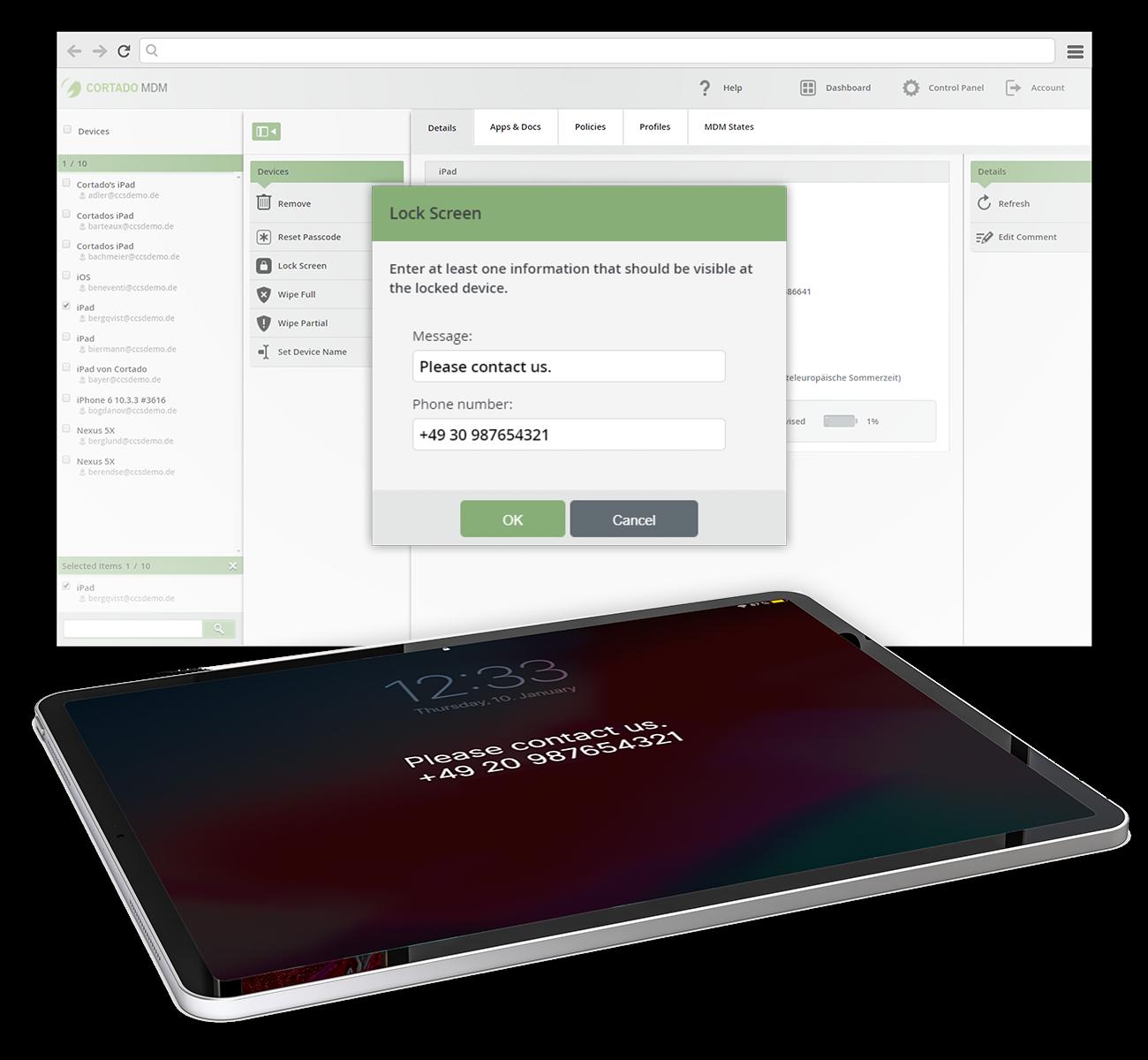 Cortado MDM Software - Cortado Security