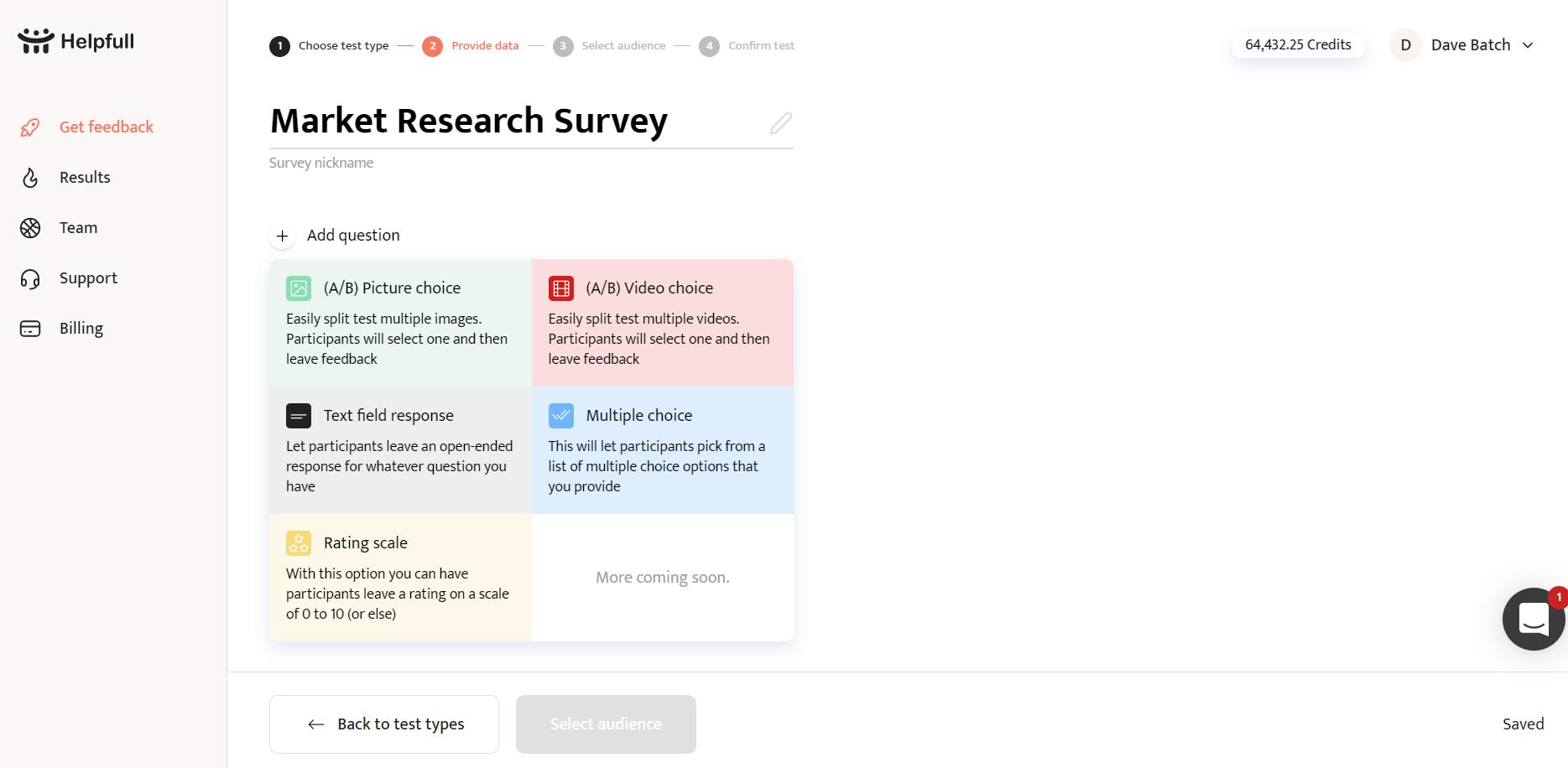 Survey question types