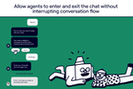 Ada screenshot: Allow agents to enter and exit the chat without interrupting conversation flow
