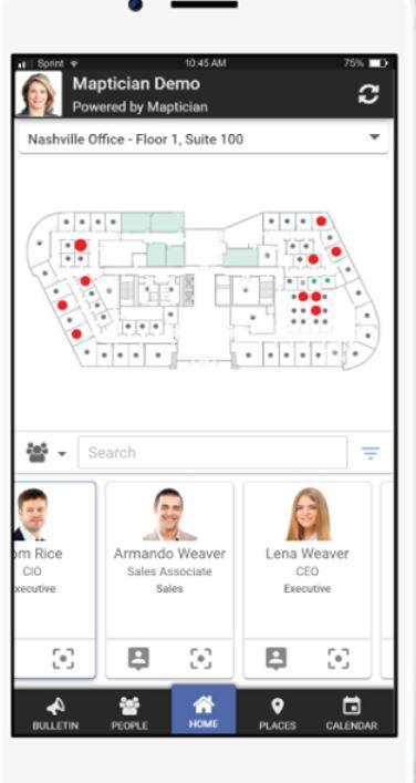 Maptician mobile application