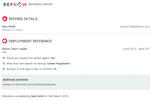 RefNow Screenshot: RefNow Reference Report